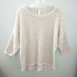 Anthropologie Bird Cage Acrylic Knit Green Sweater